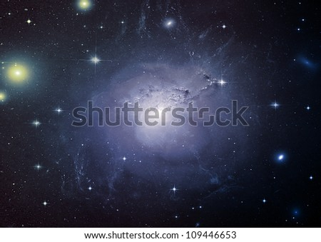 Stars of a planet and galaxy in a free space #109446653