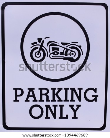 Sign PARKING ONLY