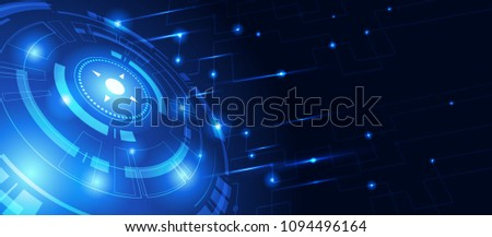Abstract technology background communication concept innovation background vector illustration #1094496164