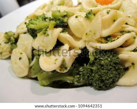 Italian Pasta with Broccoli in garlic sauce #1094642351