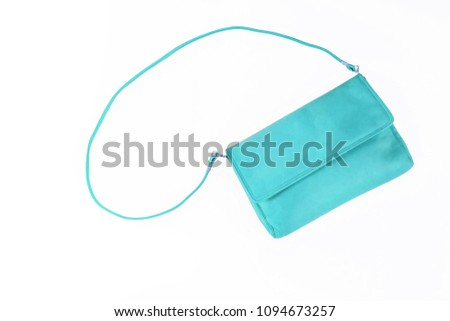 colorful fashionable clutch bag isolated on white background. #1094673257