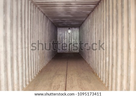 Empty shipping container for transport #1095173411