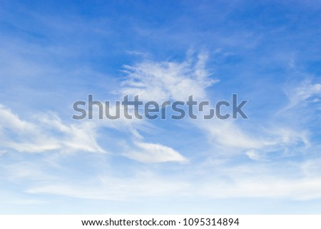 blue sky and white cloud fluffy  #1095314894