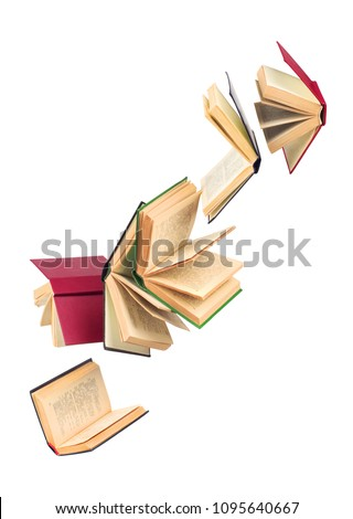 old falling books #1095640667