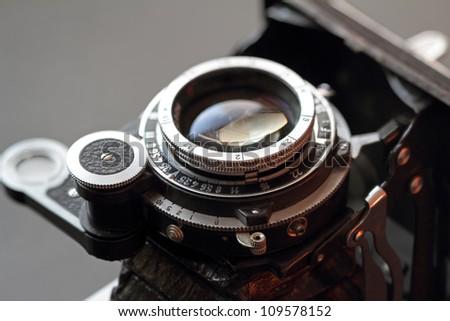 An old camera lens close-up. Shallow DOF. #109578152