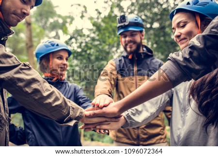 Team building outdoor in the forest #1096072364