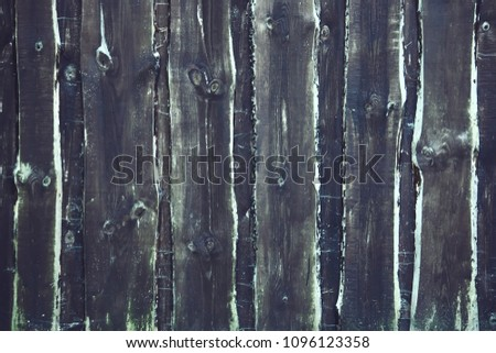 Wooden boards dark texture. Rough natural weathered wood backgound. #1096123358