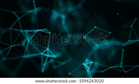 Abstract digital background. Big data visualization. Network connection structure. Science background. Royalty-Free Stock Photo #1096263020