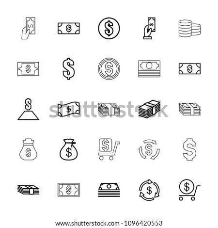 Tax icon. collection of 25 tax outline icons such as money, money sack, payment, dollar, money. editable tax icons for web and mobile. #1096420553