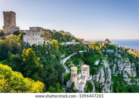 Castello di Venere in Erice, Sicily, Italy #1096447265