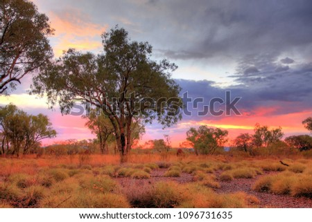 Serene sunset in the Kimberley after the cyclone rain #1096731635
