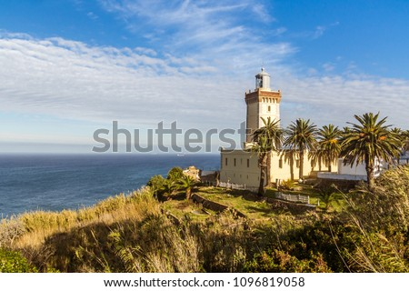 Cape Spartel, promontory at the entrance to the Strait of Gibraltar, 12 km West of Tangier, Morocco. #1096819058