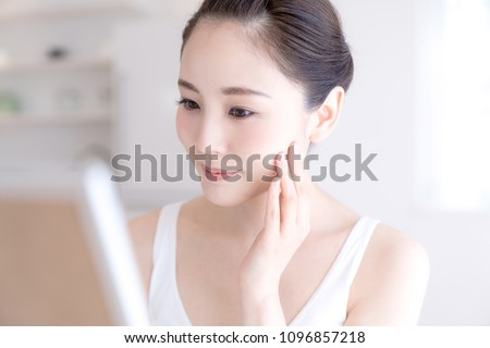 Beauty concept of asian girl. Skin care. #1096857218