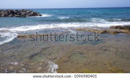 beaches and sea. #1096980401