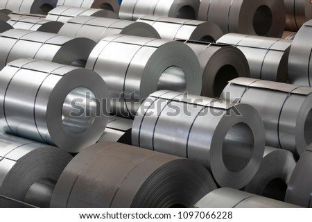 storage of steel coils #1097066228