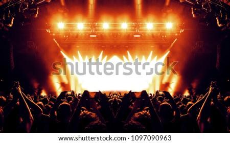 Illuminated concert hall #1097090963