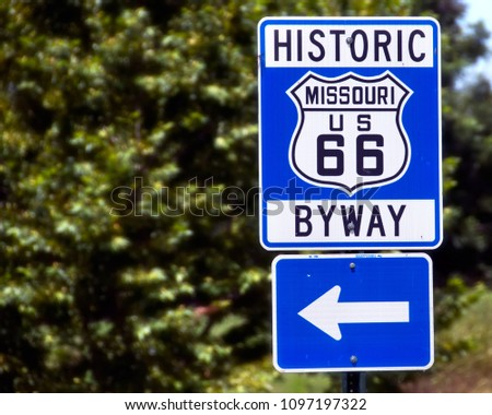 Historic US Route 66 - Get Your Kicks #1097197322