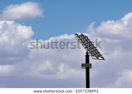 Solar street light and clouds #1097338892
