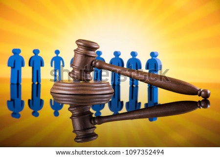 People law concept, Wooden gavel #1097352494