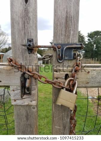 closeup old lock #1097415233
