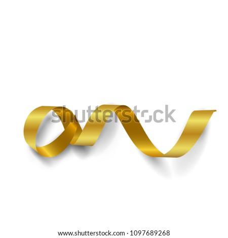 gold ribbon on white  #1097689268
