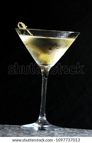 martini, olive, drink, #1097737013