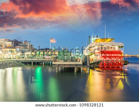 Docked steamboat in New Orleans #1098328121