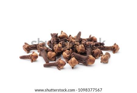 Spice cloves on white background #1098377567