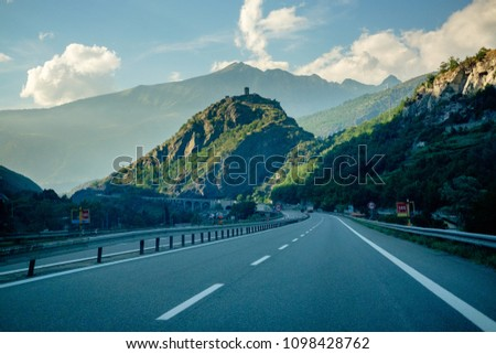 Highway in Aosta Valley #1098428762