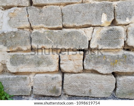 background texture of white Lightweight Concrete block #1098619754