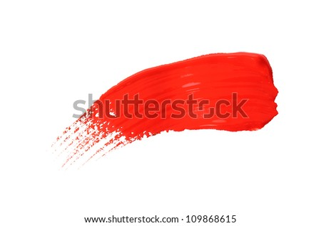 Abstract gouache paint and brushes, isolated on white #109868615
