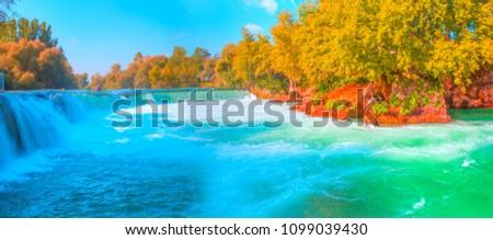Amazing view of Manavgat waterfall - Antalya, Turkey #1099039430