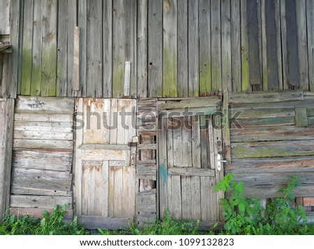 Old wooden wall. #1099132823
