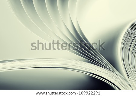 Macro view of book pages. Toned #109922291