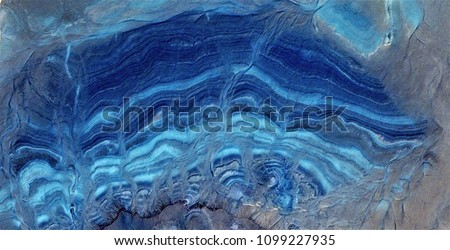 blue agate, abstract photography of the deserts of Africa from the air. aerial view of desert landscapes, Genre: Abstract Naturalism, from the abstract to the figurative, contemporary photo art
