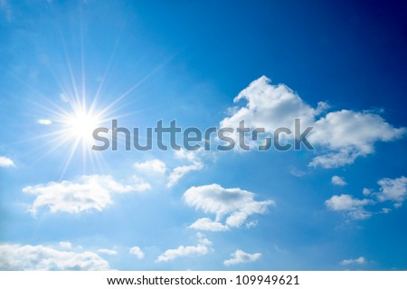 Strong sun and skies #109949621