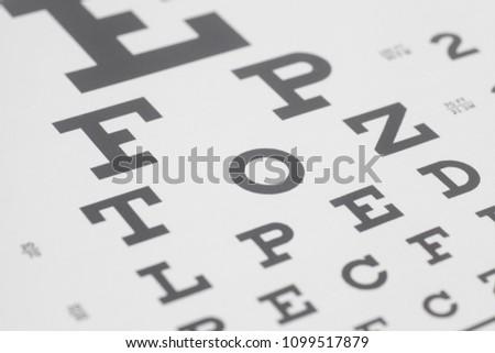 Eyesight test chart #1099517879