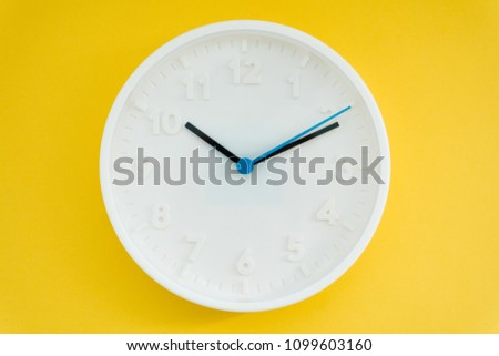 clock on yellow background #1099603160
