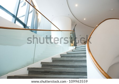 luxury stairs of  modern industrial building. #109963559