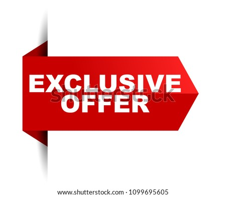 banner exclusive offer #1099695605