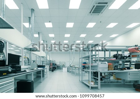 Factory for the manufacture of electronic printed circuit boards. Electronic industry. #1099708457