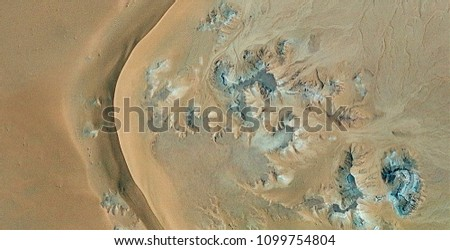 The line of life, abstract photography of the deserts of Africa from the air. aerial view of desert landscapes, Genre: Abstract Naturalism, from the abstract to the figurative, contemporary photo art