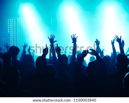Concert Crowd at rock concert #1100003840