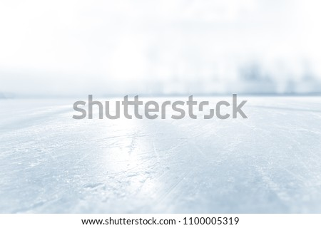 BLURRED ICE HOCKEY STADIUM, COLD LIGHT BACKGROUND #1100005319