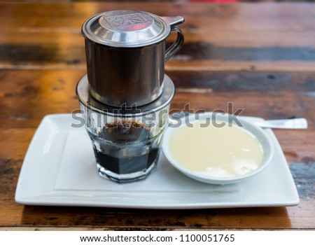 A cup of Vietnamese coffee #1100051765