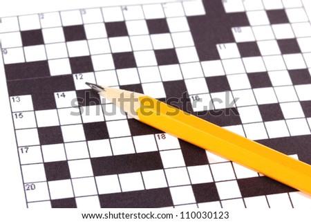 Crossword puzzle close-up #110030123
