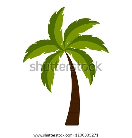 Isolated palm tree icon