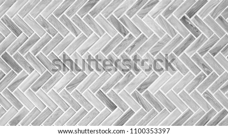 seamless black white and gray mosaic marble wall tile texture in geometric square shape pattern for background and wallpaper, monochrome tone #1100353397