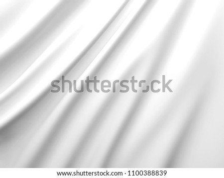 Beautiful White Silk. Drapery Textile Background. Abstract soft elegant satin. 3D rendering illustration. #1100388839