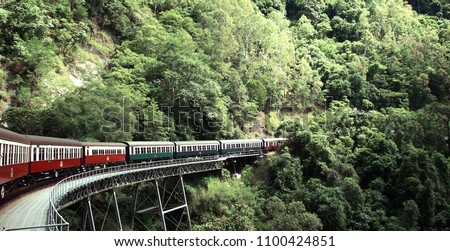 Kuranda train in cairns #1100424851